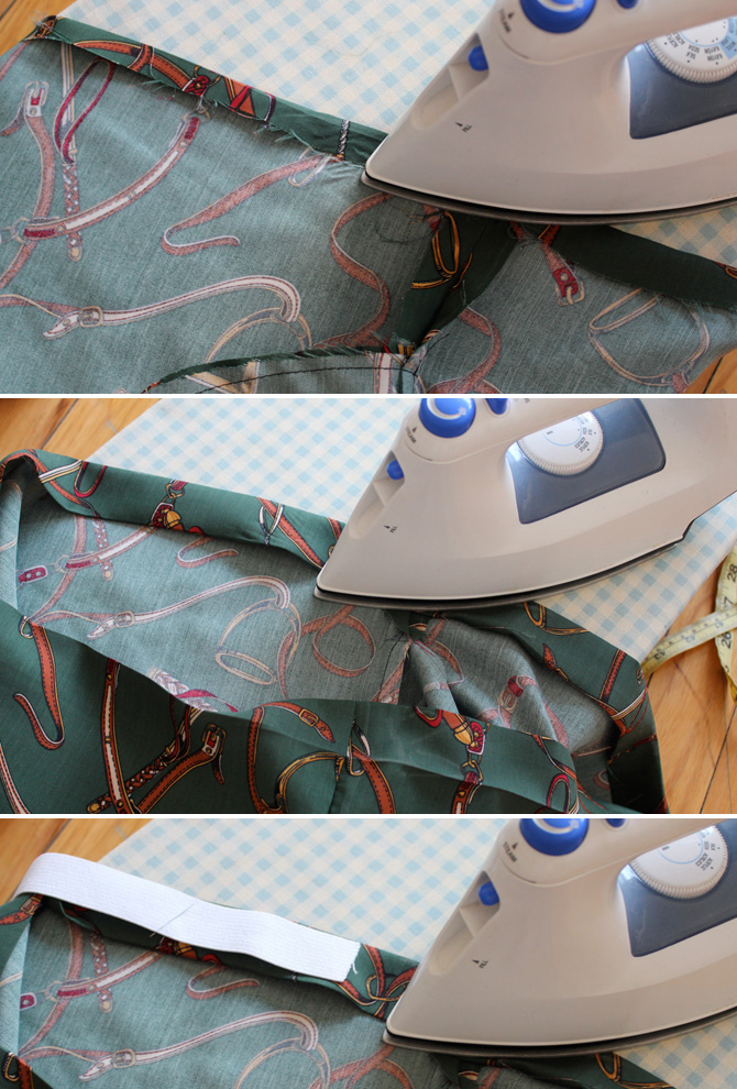 DIY elastic waist skirt tutorial6