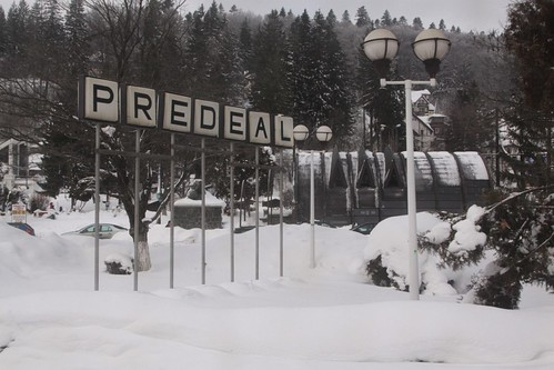 Arriving into the Romanian ski resort town of Predeal