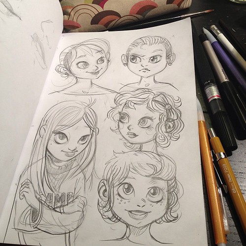 Drawing funny girls tonight. #characters #art #sketch