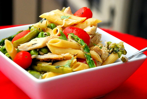 Chicken Penne with Spring Veggies
