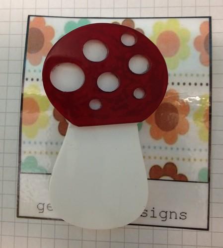 My last Mushroom brooch!
