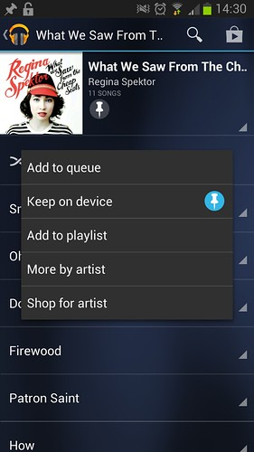 """Play Music"" app ""keep on device"""