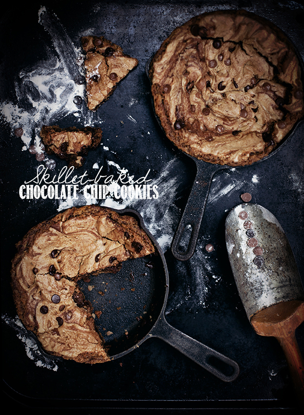 Call me cupcake: Best Ever skillet-baked chocolate chip cookies