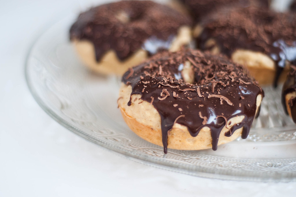 chocolate and orange donuts