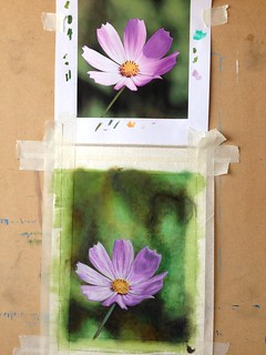 Purple flower painting finished