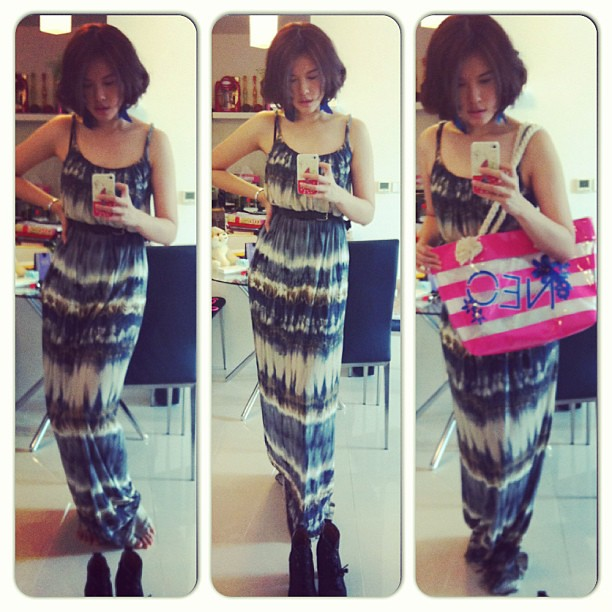 Ootd. No make up day. Maxi dress by MNG. Tote by Adidas. Boots from Taiwan. #lotd #lookoftheday #outfit #ootd #outifoftheday #coordinate #coordinatetoday #coordinateoftheday #fashion #fashionaddict