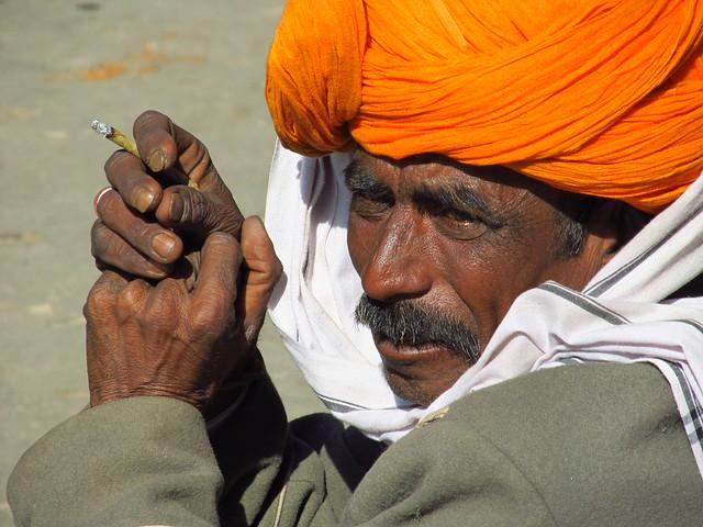 Portrait of a Rajasthan man