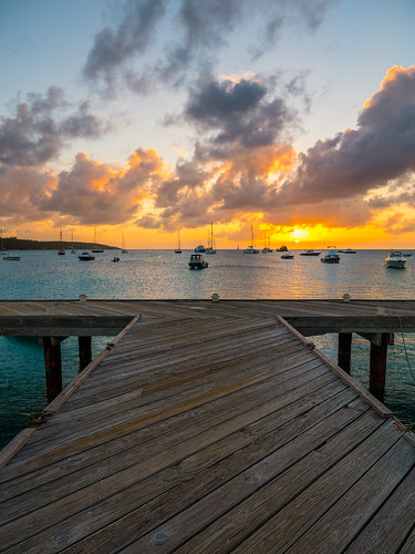 ocean wood blue sunset sea orange sun water clouds boats island pier caribbean sailboats anguilla planks