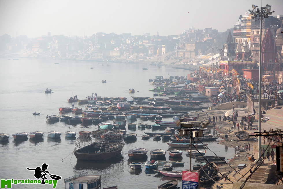 View of Varanasi, India