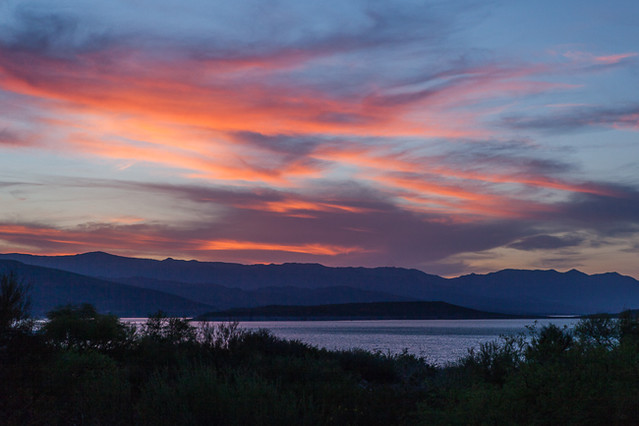 Twilight, Roosevelt Lake, Arizona