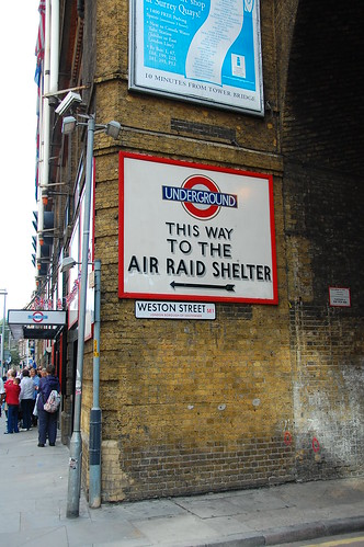 London air raid underground