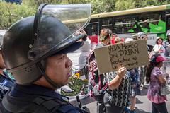 Otra marcha encapsulada en el DF: Protestar es un derecho. Reprimir es un delito