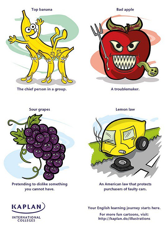 English Idioms: Food