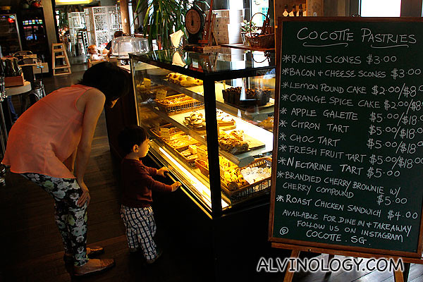 Newly launched pastries counter, with items at very reasonable prices