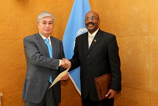 NEW PERMANENT REPRESENTATIVE OF HAITI PRESENTS CREDENTIALS TO DIRECTOR-GENERAL OF UNITED NATIONS OFFICE AT GENEVA