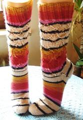 Socken mit Elfunny-beret-hat-Muster