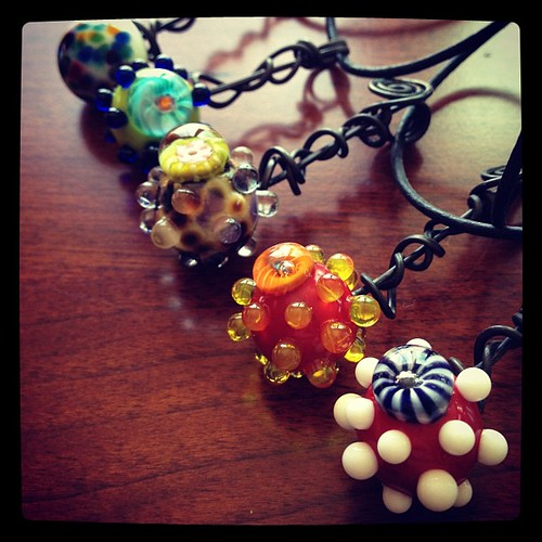 Lampwork Lollipop Necklaces jen cameron glass addictions