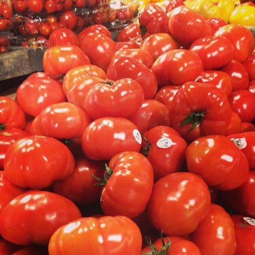 Local tomatoes on sale