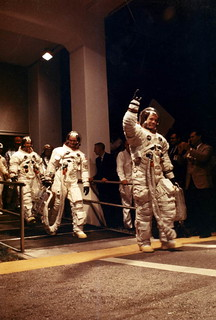 Apollo 11 Astronauts Neil Armstrong, Edwin Aldrin, and Michael Collins