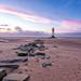 Sunset at Talacre Lighthouse by Anthony Owen-Jones