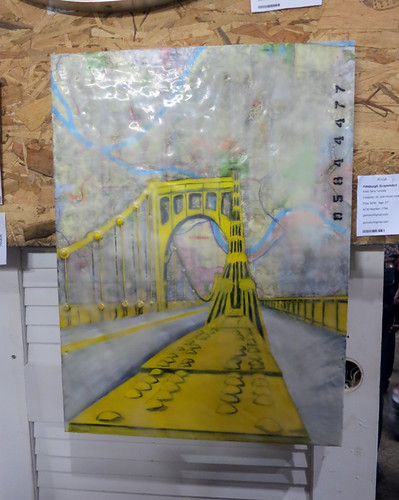 AAN2013 Pittsburgh Suspended by Gina Tomsky Encaustic Oil Mixed Media