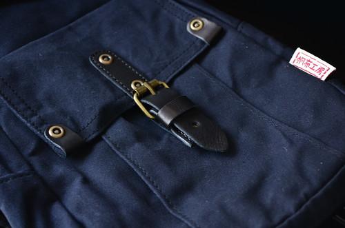 外ポケット [ハンプコウボウ] 帆布工房 ミリタリーライン ボディ