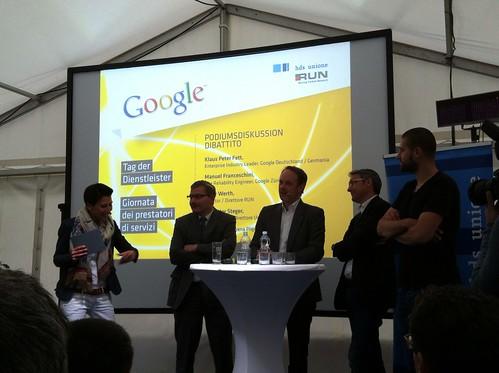 Podiumsdiskussion Google, HDS und RUN