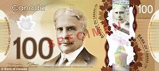 Canada $100 bill