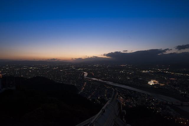 金華山から見下ろして