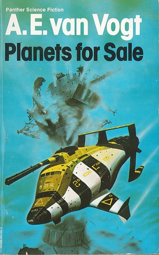 Planets for Sale by A.E. Van Vogt. Panther 1979. Cover artist Chris Foss