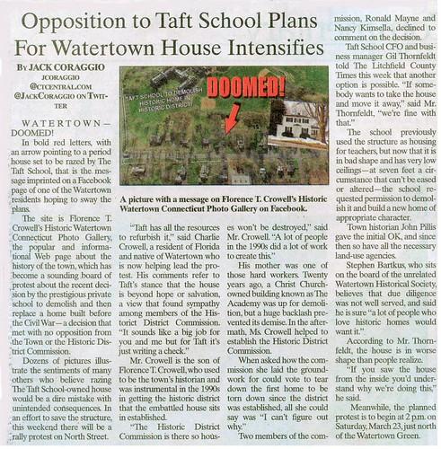 protest ct watertown historicpreservation taftschool charliecrowell