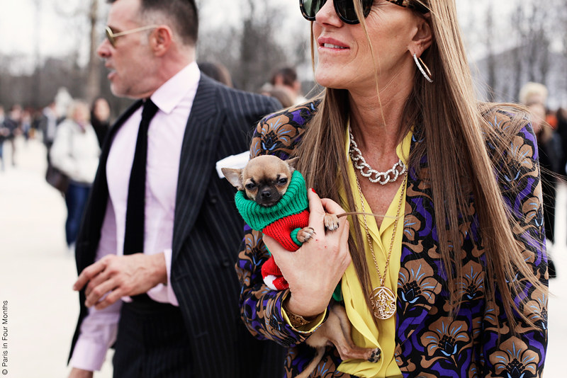 Anna Dello Russo at Paris Fashion Week FW13