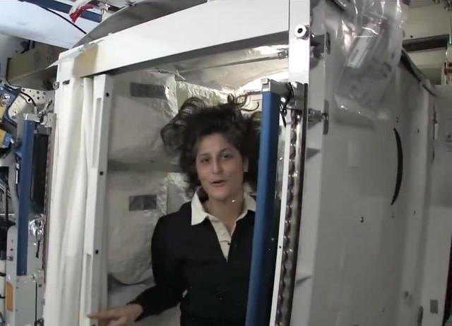 Sunny Williams in the Space Station outhouse. | Flickr ...
