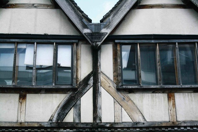 twin window old wood detail oxford