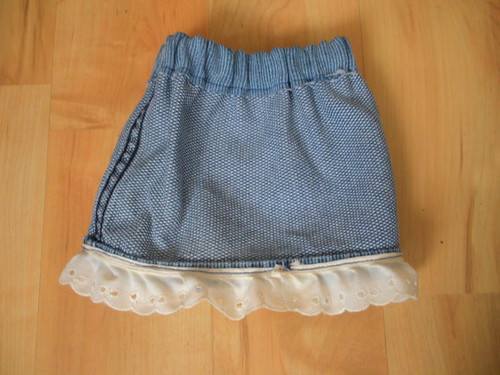 Inside Out Demin Doll Skirt