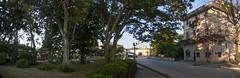 Vista hacia el Puente de la Cruz, temprano en la mañana, desde el Monumento al Tren Blindado, reparto Capiro, Santa Clara, provincia Villa Clara, Cuba 2013