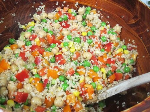 Lemony Vegetable Quinoa Salad