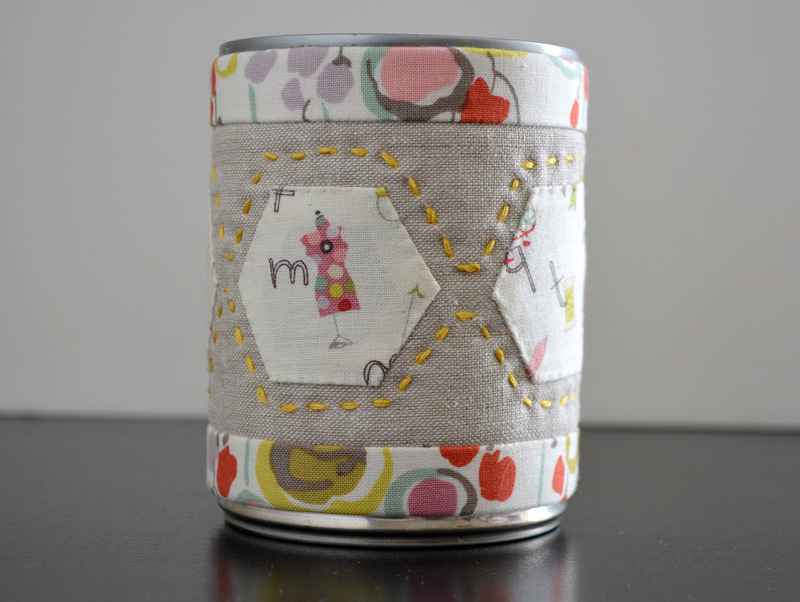 Fabric Covered  Can