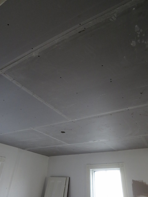 blue board ceiling