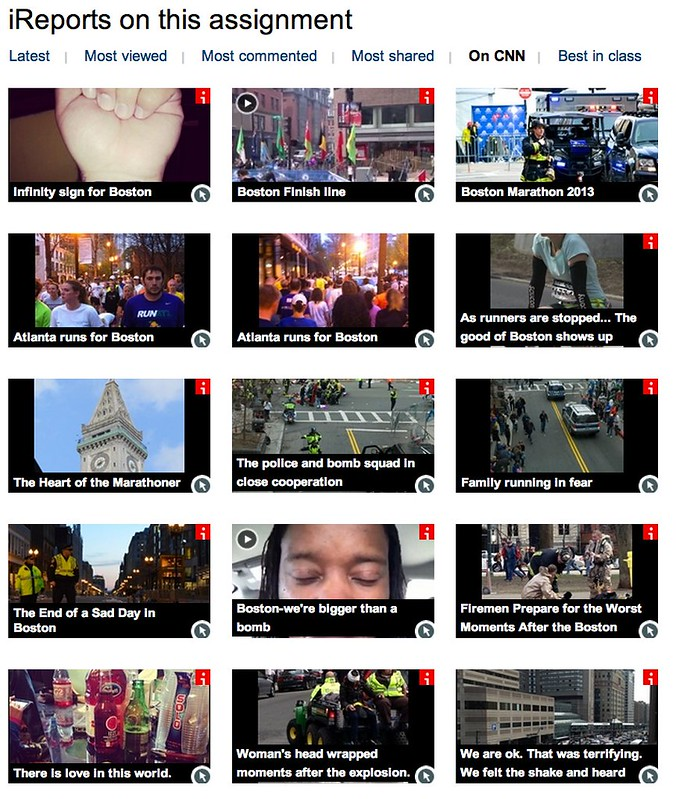 iReports on CNN: Boston Marathon bombings: Your stories: News & Videos about Boston Marathon bombings: Your stories - CNN iReport