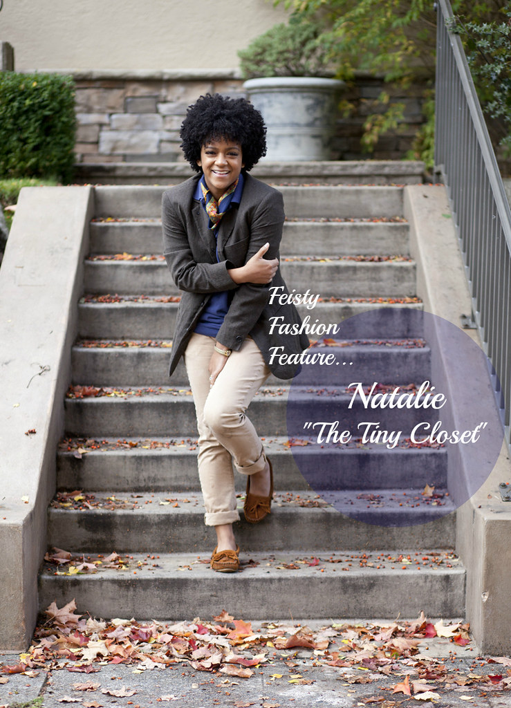 feisty fashion feature - black style blogger - natalie of the tiny closet