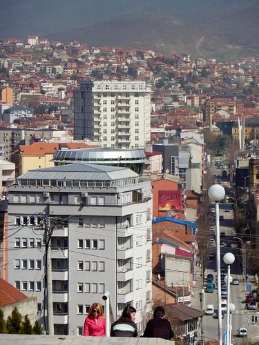 woman tower stairs war serbia eu osce kosovo violence conflict balkans ethnic pandora nato prishtina kfor prishtinë priština dragodan eulex
