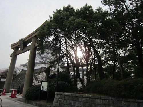 kokura-jo and torii
