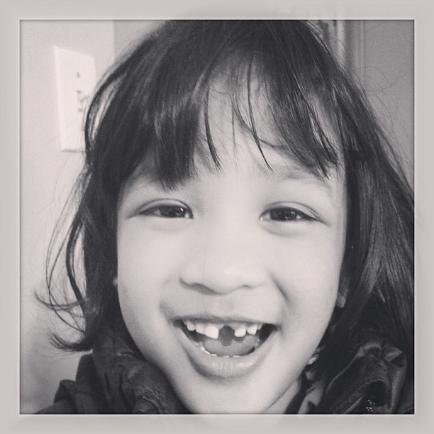 Another Lily milestone. #toothfairy