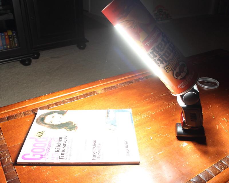 DIY: Pringles Can Strip Light (First Test Image)