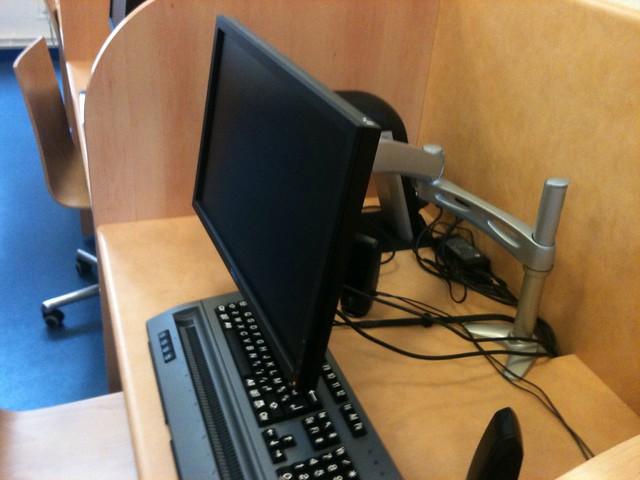 Afficheur braille et écran PC