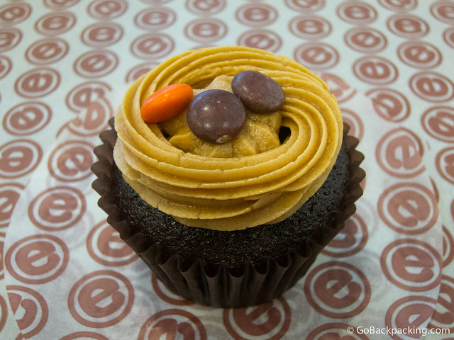 Reese's peanut butter and chocolate cupcake