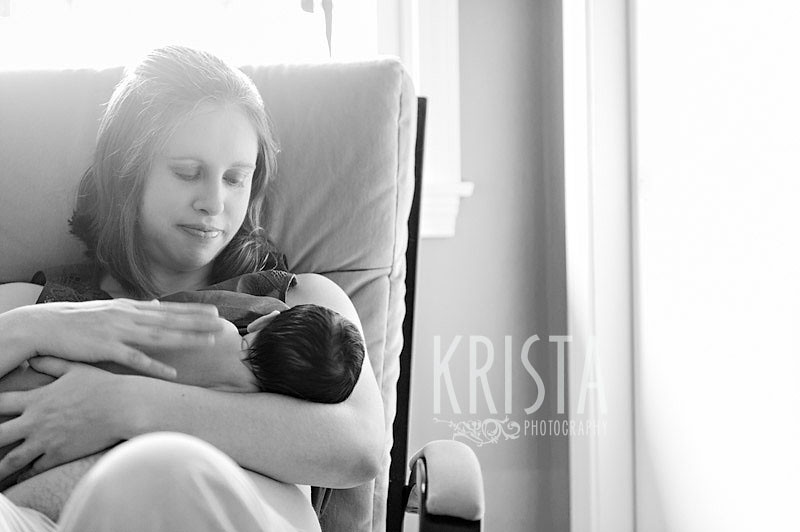 Newborn baby boy portrait session