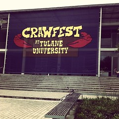 It's coming... #crawfest #onlyattulane #onlyinneworleans