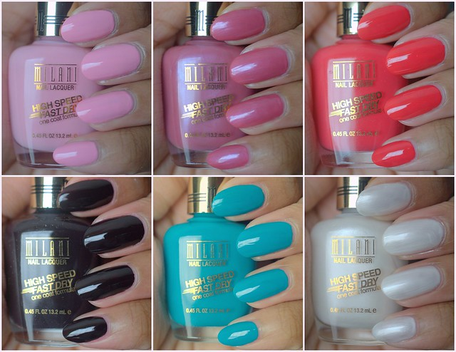 Pretty Polishes: Milani Fast Dry nail polishes